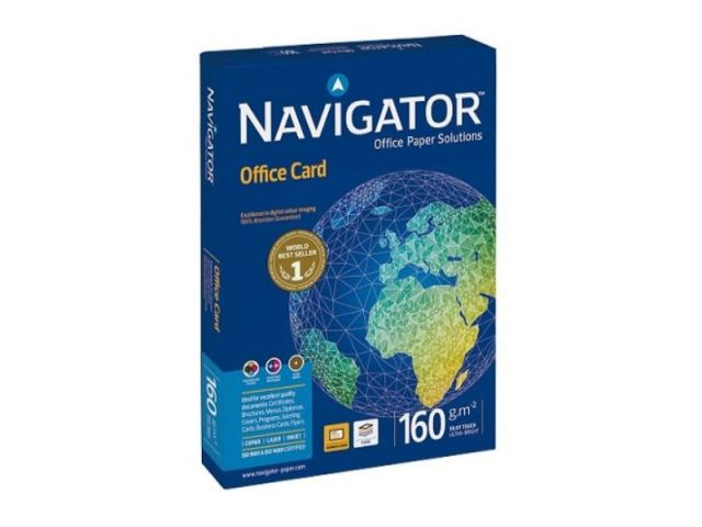 NAVIGATOR P.250H.PAPEL A4 160G OFFICE CARD NAV-160