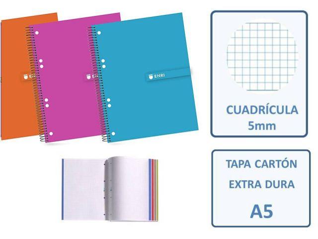 ENRI CUADERNO MICROP. A5 CUADRO 5X5 140H