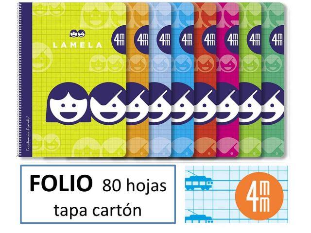 CUADERNO BASICO LAMELA FOLIO 80H.C.4 07F004