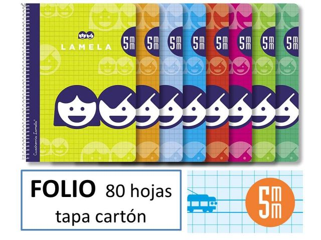 CUADERNO BASICO LAMELA FOLIO 80H.C.5 07F005