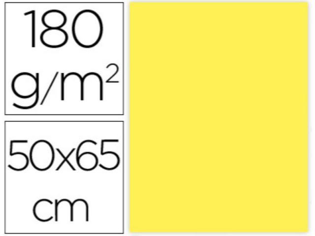 P.25 HOJAS CARTULINA 50X65 AMARILLO INT CX56