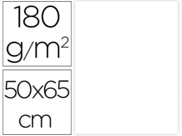P.25 HOJAS CARTULINA 50X65 BLANCA