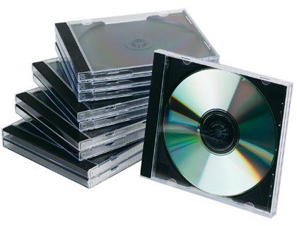 PACK 10 CAJAS CD/DVD JEWEL NEGRO KF02209