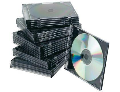 PACK. 25 CAJAS CD/DVD SLIM TRANSPARENTE