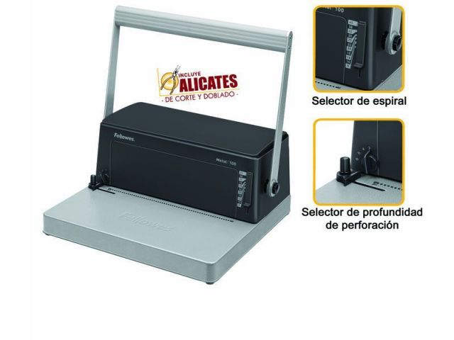 FELLOWES ENCUADERNADORA METAL 100 0030102