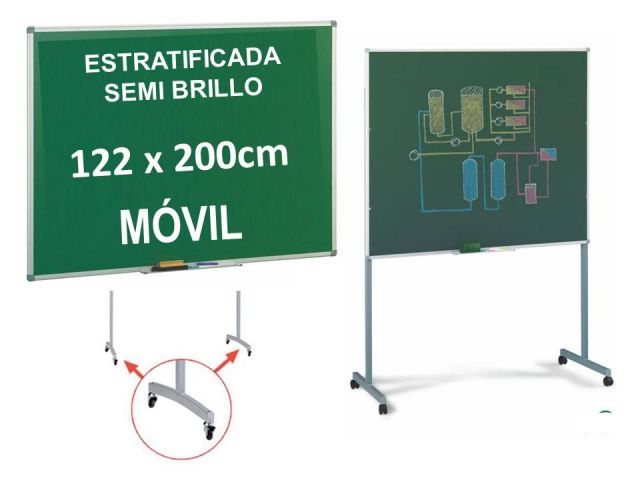 FAIBO PIZARRA VERDE ESTR.122x200 11VS-5U MÓVIL