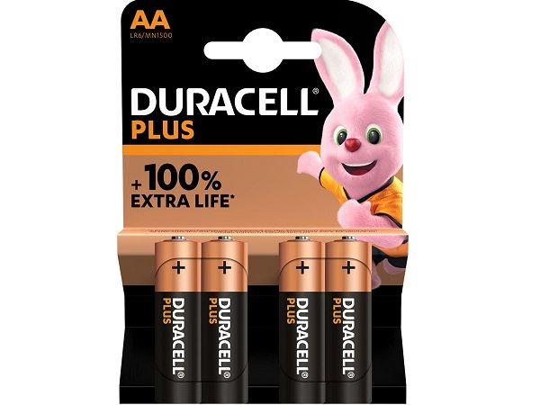 DURACELL LR6 AA 4 PILAS PLUS POWER LR6/MN1500