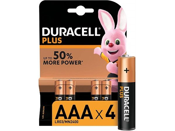 DURACELL LR03 AAA 4 PILAS  PLUS POWER
