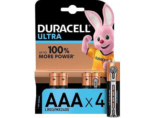 DURACELL LR03 AAA 4 PILAS ULTRA LR03/MX2400