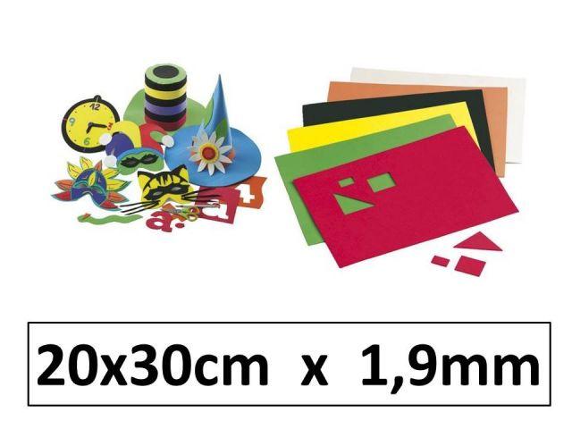FBO B.10 LÁMINAS GOMA EVA 20X30CM 1,9mm 1653 SURT.