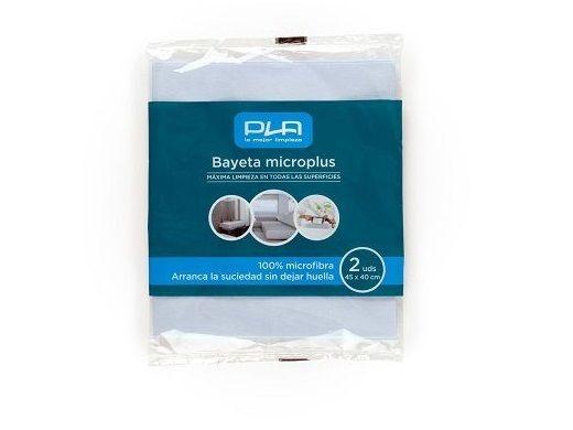 PLA PAQ.2 BAYETAS MICROPLUS 45x40CM 20672