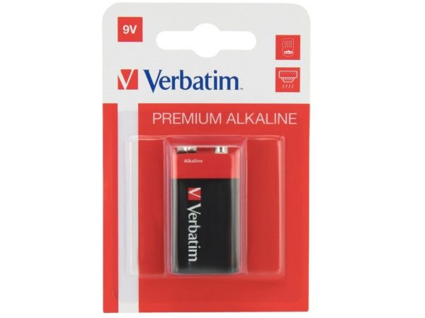 VERBATIM PILA ALCALINA DE 9V - 6LR61- PACK 1 UD