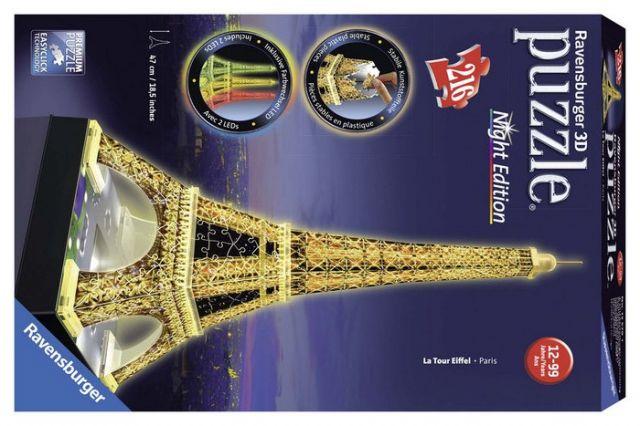 PUZZLE 3D TORRE EIFFEL NIGHT EDITION 12579 (RAVENS