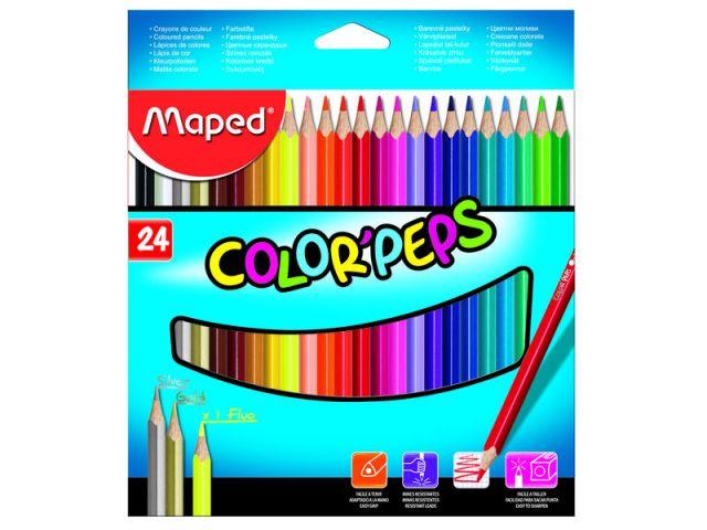 MAPED  EST 24 LAP COLORES COLORPEPS 183224