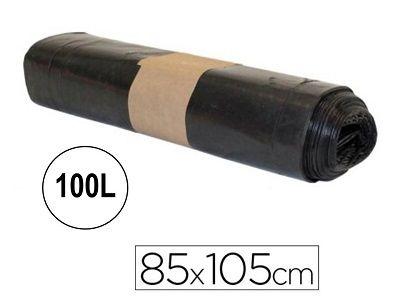 PAQ. 10 BOLSAS DE BASURA INDUSTRIAL 85X105 NEG GRI
