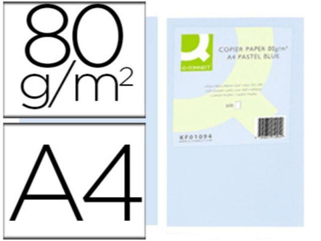 PAPEL COLOR Q-C A4 80GR CELESTE PAQ.500 H.