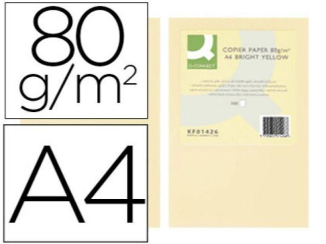 PAPEL COLOR Q-C A4 80GR CREMA PAQ.500 H.