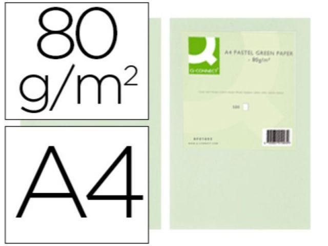 PAPEL COLOR Q-C A4 80GR VERDE PAQ.500 H.