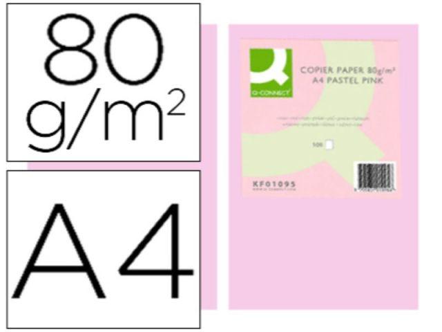 PAPEL COLOR Q-C A4 80GR ROSA PAQ.500 H.