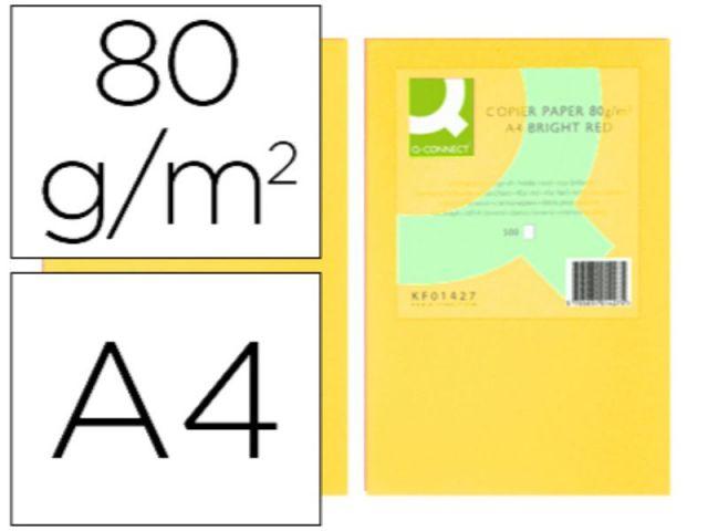 PAPEL COLOR Q-C A4 80GR AMARILLO PAQ.500 H.