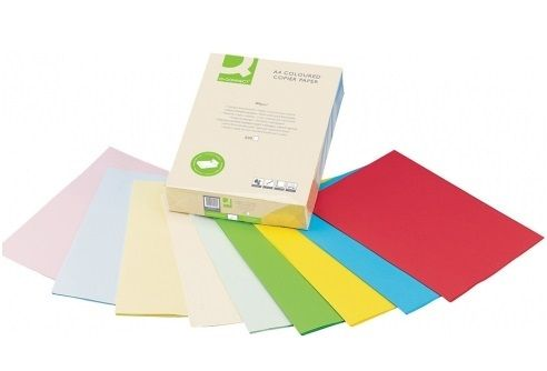 PAPEL COLOR Q-C A3 80GR ROJO INTENSO PAQ.500 H.