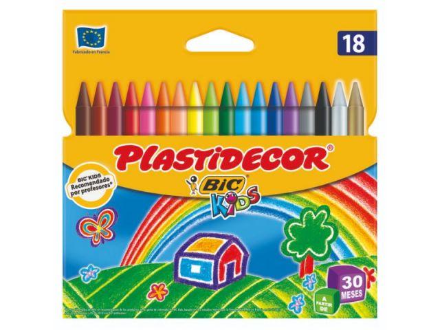 BIC PLASTIDECOR ESTUCHE 18 CERAS 875771