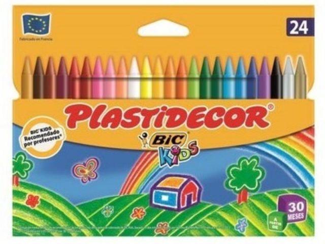BIC PLASTIDECOR ESTUCHE 24 CERAS 816963