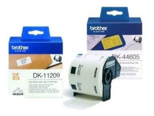 BROTHER ETIQUETAS 29X90MM NEGRO/BL DK11201
