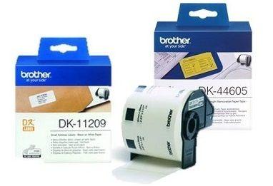 BROTHER ETIQUETAS 38X90MM NEGRO/BL DK11208