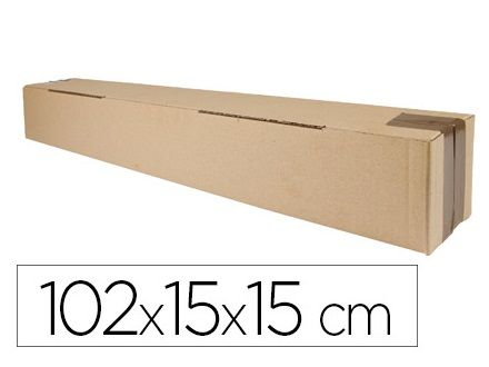 (PACK.5) CAJAS EMBALAJE CARTON TUBO 102x15x15cm