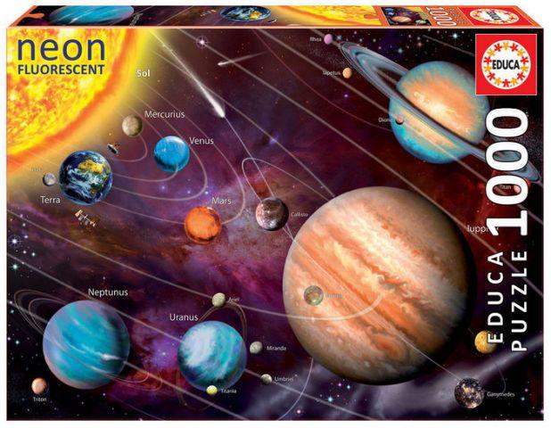 PUZZLE 1000 PZ. NEON SISTEMA SOLAR  - 14461 (EDUCA