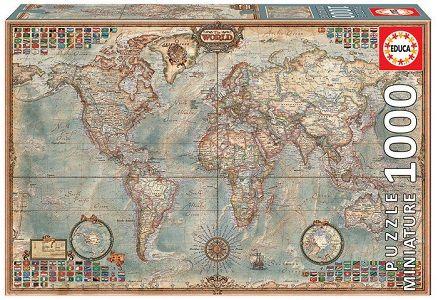 PUZZLE 1000 MAPA POLITICO MINIATURA  - 16764 (EDUC