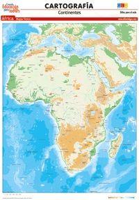 LÁMINAS DIDÁCTICAS. CARTOGRAFÍA. ÁFRICA (FÍSICO)