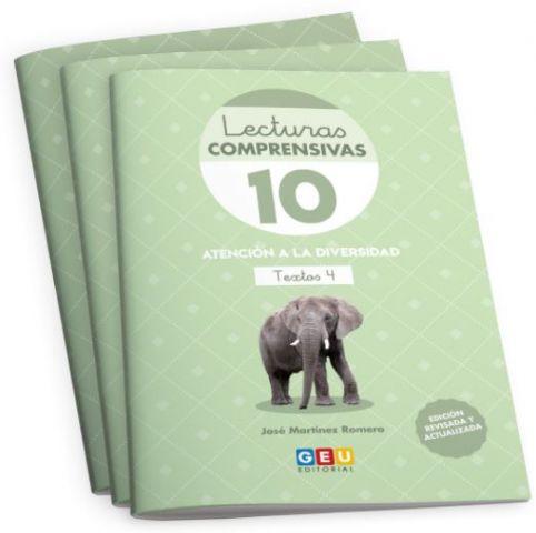 PACK 3 LECTURAS COMPRENSIVAS 10,11,12  + ORG.(GEU)
