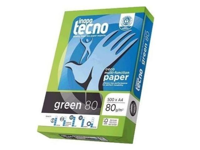PACK 500 HOJAS A4 80GR.TECNO GREEN RECICLADO