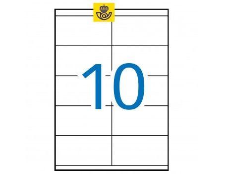 C.100H A4  ETIQUETAS 105X57MM (10)