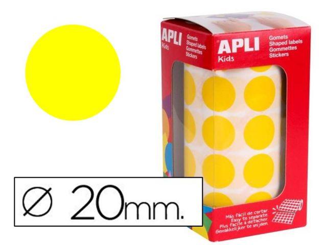 APLI ROLLO GOMETS REDONDO 20mm AMARILLO 4859
