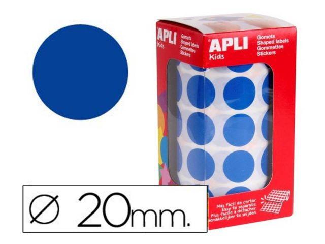 APLI ROLLO GOMETS REDONDO 20mm AZUL  4860