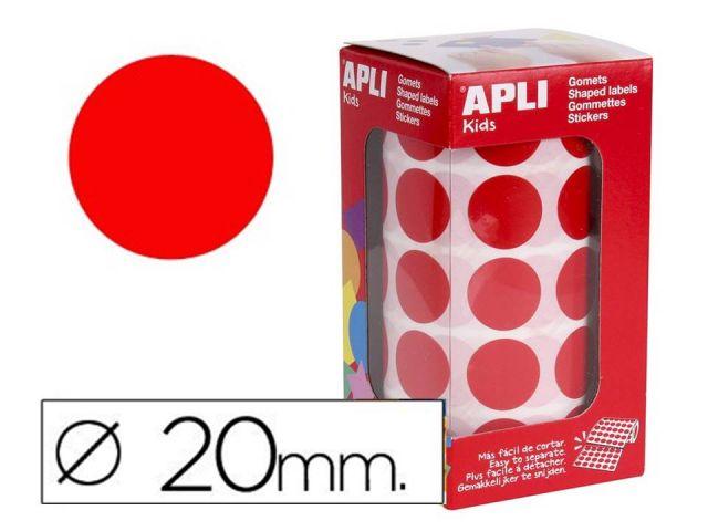 APLI ROLLO GOMETS REDONDO 20mm ROJO 4861
