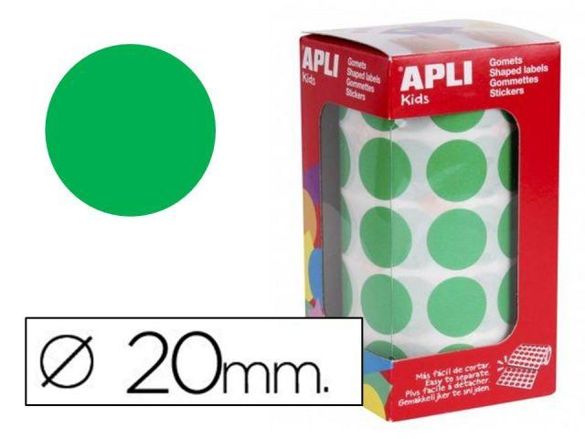 APLI ROLLO GOMETS REDONDO 20mm VERDE  4862