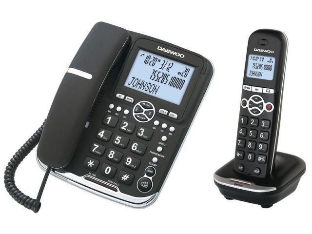 DAEWO TELEFONO COMBO FIJO+INALAMBRICO  DW0075