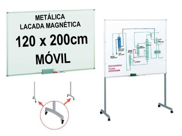FAIBO PIZARRA BL. LACADA MAGNETICA MÓVIL 120X200