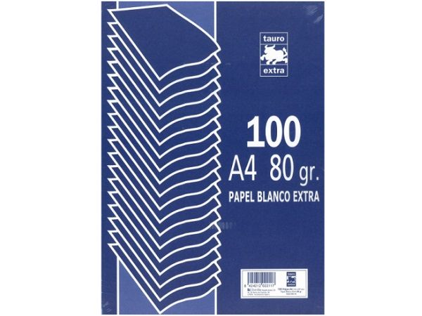 PAQ.100 HOJAS PAPEL A4 80GR. BLANCO EXTRA