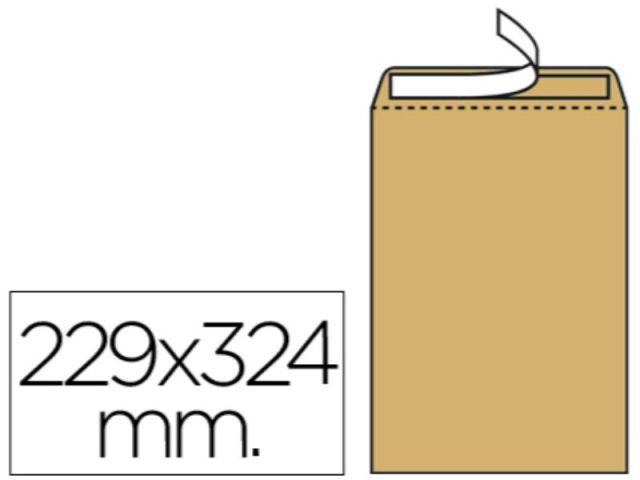 CJ. 250 BOLSAS 229X324 ADHESIVO KRAFT