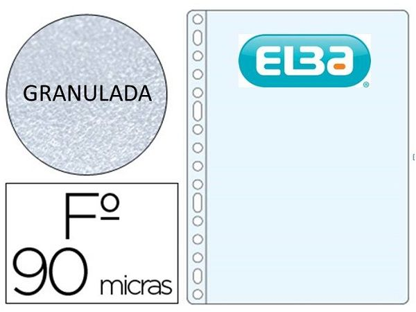 ELBA P.100 FUNDAS MULTITALADRO PP FOLIO 90MC