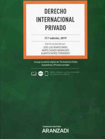 DERECHO INTERNACIONAL PRIVADO ED. 2019 (ARANZADI)