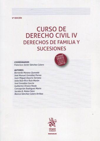 CURSO DE DERECHO CIVIL IV.  9 ED.  2019 (TIRANT)