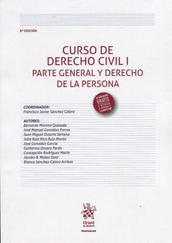 CURSO DE DERECHO CIVIL I.  9 ED.  2019 (TIRANT)