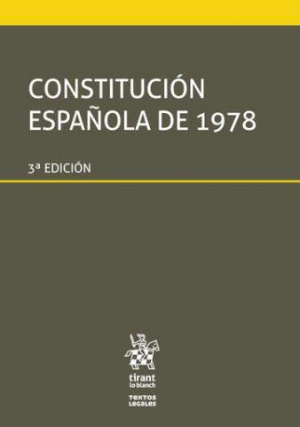 CONSTITUCIÓN ESPAÑOLA DE 1978  ED. 2019 (TIRANT)