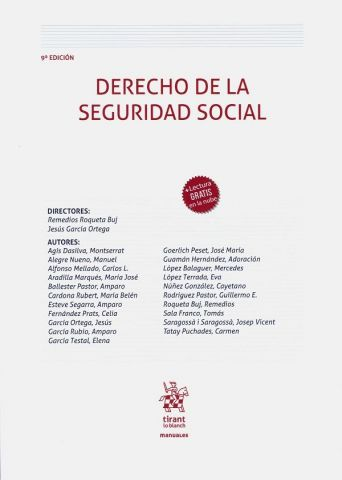 DERECHO DE LA SEGURIDAD SOCIAL 9º ED 2020 (TIRANT)